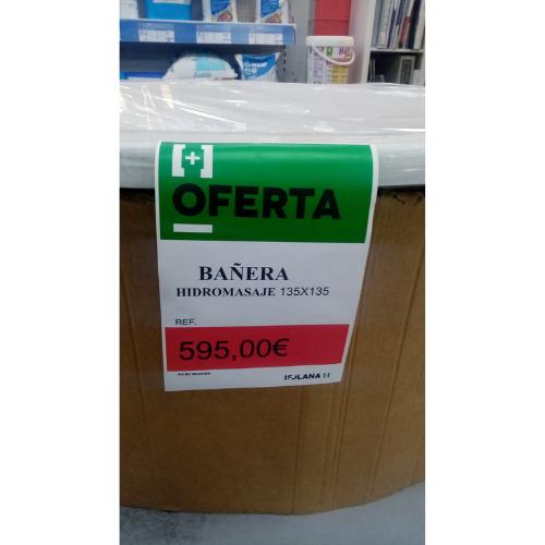 BAÑERA HIDROMASAJE 135x135