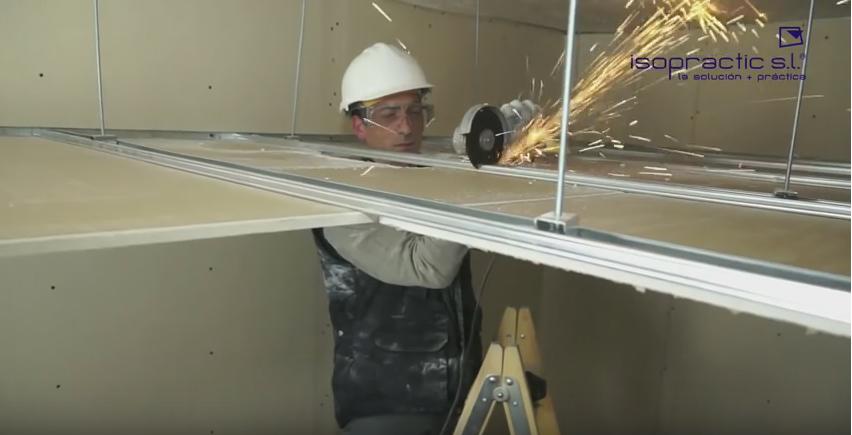 cortar los perfiles del techo