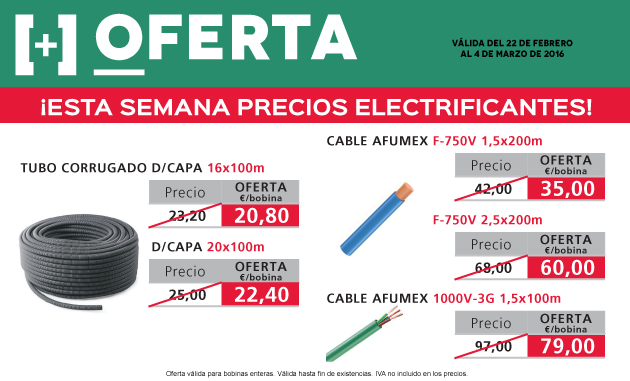 oferta de cables