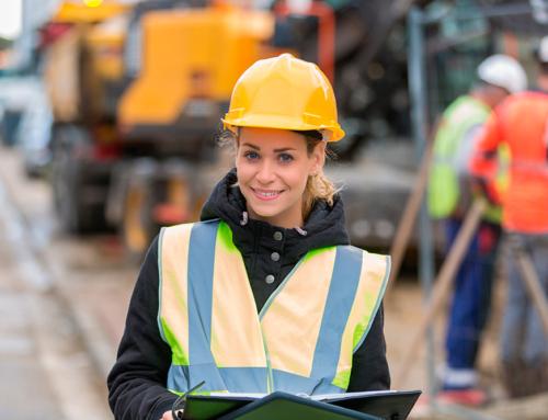 Mujeres que trabajan en el sector de la construcción