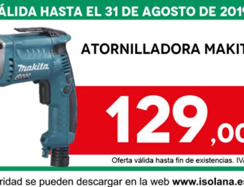 Oferta del mes de agosto en ISOLANA: ATORNILLADORA MAKITA FS6300R