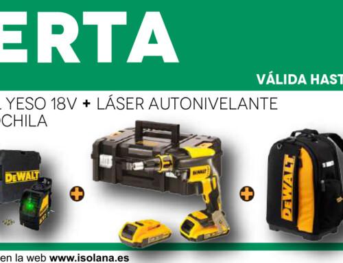 Kit: Atornillador Panel Yeso 18v + Láser Autonivelante de 2 Líneas en Cruz 10,8v + Mochila – Oferta del mes de septiembre en ISOLANA