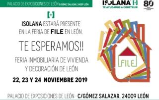 ISOLANA estará en la Feria Inmobiliaria de Viviendas y Decoración de León