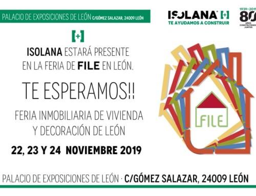 ISOLANA estará en la Feria Inmobiliaria de Viviendas y Decoración de León [22, 23 y 24 de noviembre]