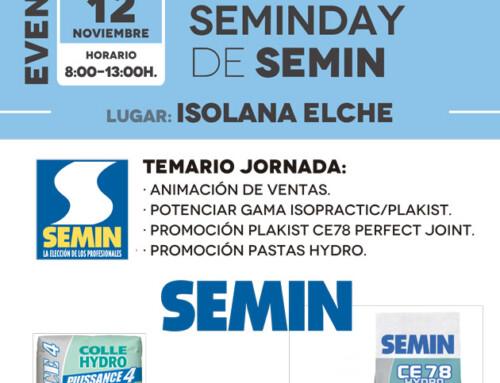 Jornada Seminday de SEMIN en ISOLANA ELCHE [Martes 12 de noviembre]