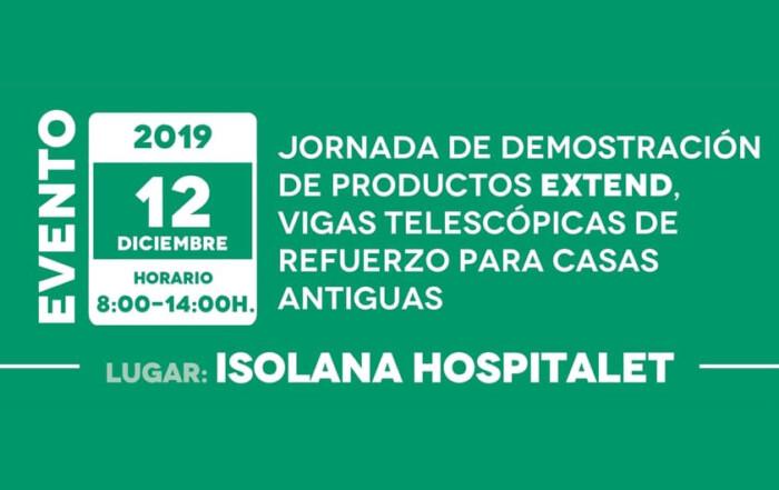 Evento EXTEND SYSTEM en ISOLANA HOSPITALET 12 DIC. 2019