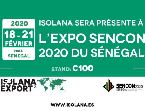 Isolana Export estará presente en la Expo SENCON 2020 en Senegal