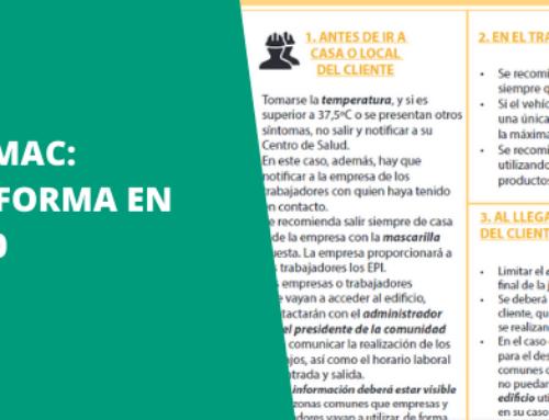 Cuadro de Andimac sobre normativas y recomendaciones en las obras de Reforma en Fase 0