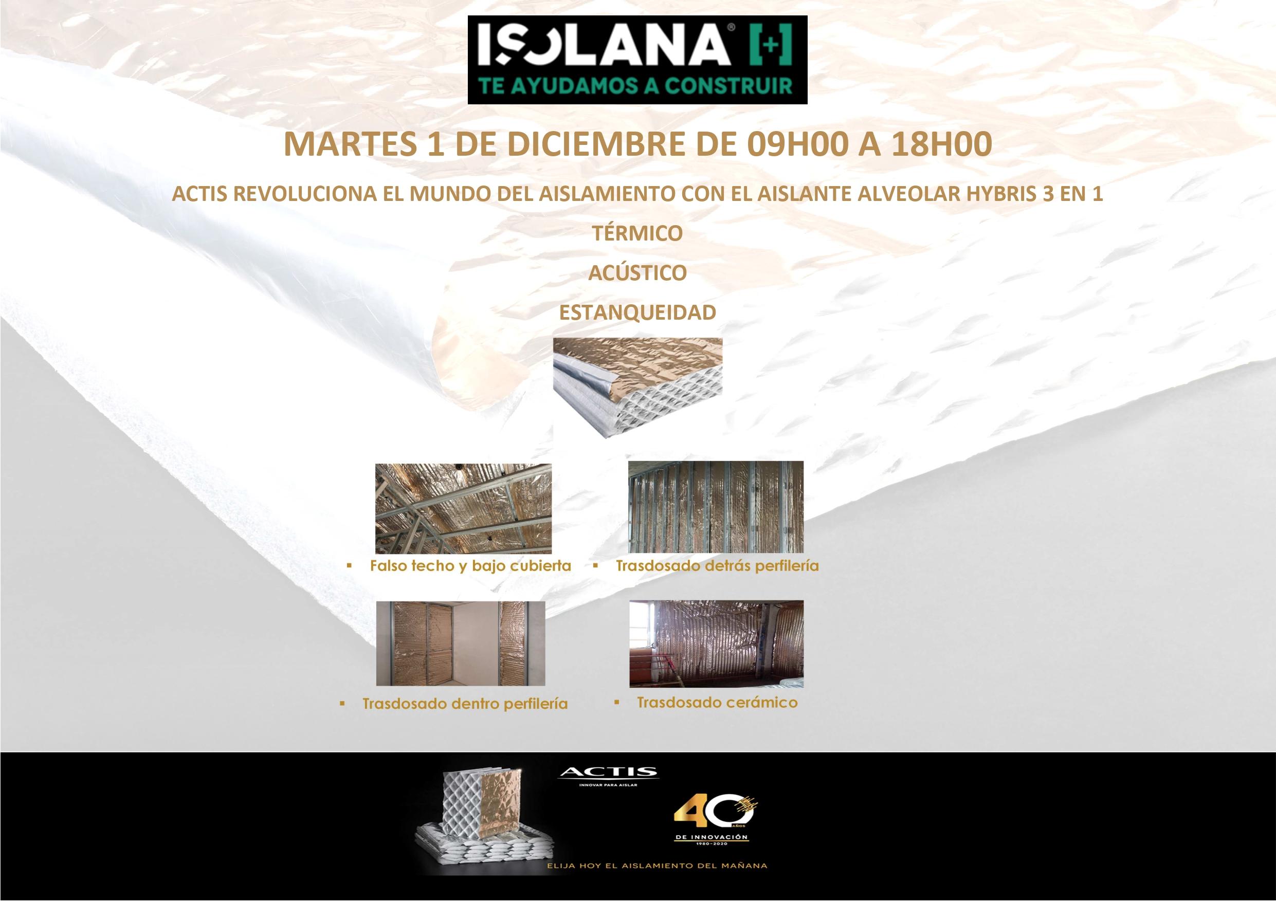 Jornada de presentación de materiales y sistemas ACTIS en ISOLANA A Coruña