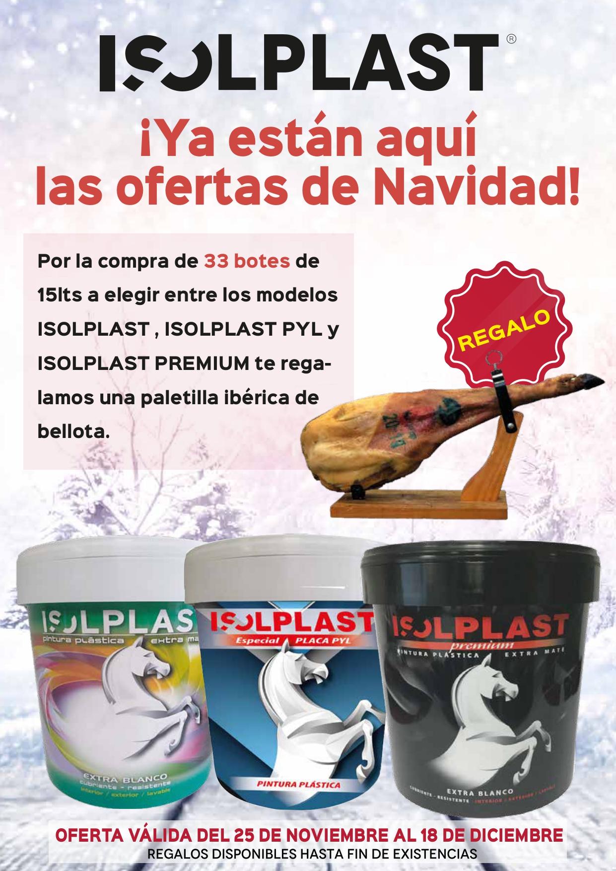PINTURA ISOLPLAST - Oferta de Navidad