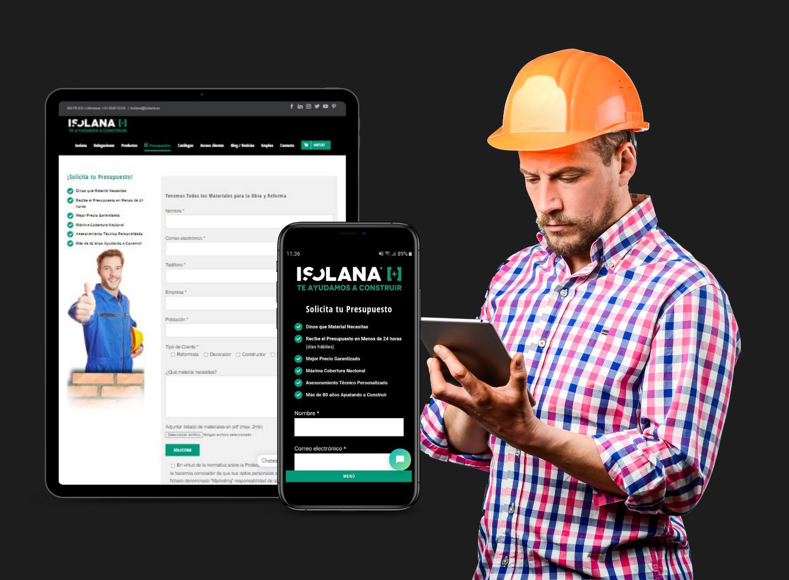 Presupuesto de Materiales de Construcción en ISOLANA