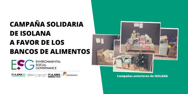 Campaña de ISOLANA para ayuda del Banco de Alimentos