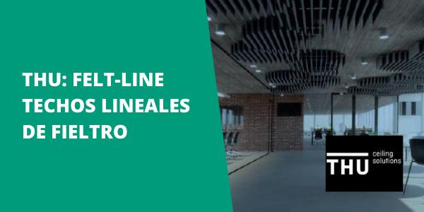 THU: Felt-Line | Techos lineales de fieltro
