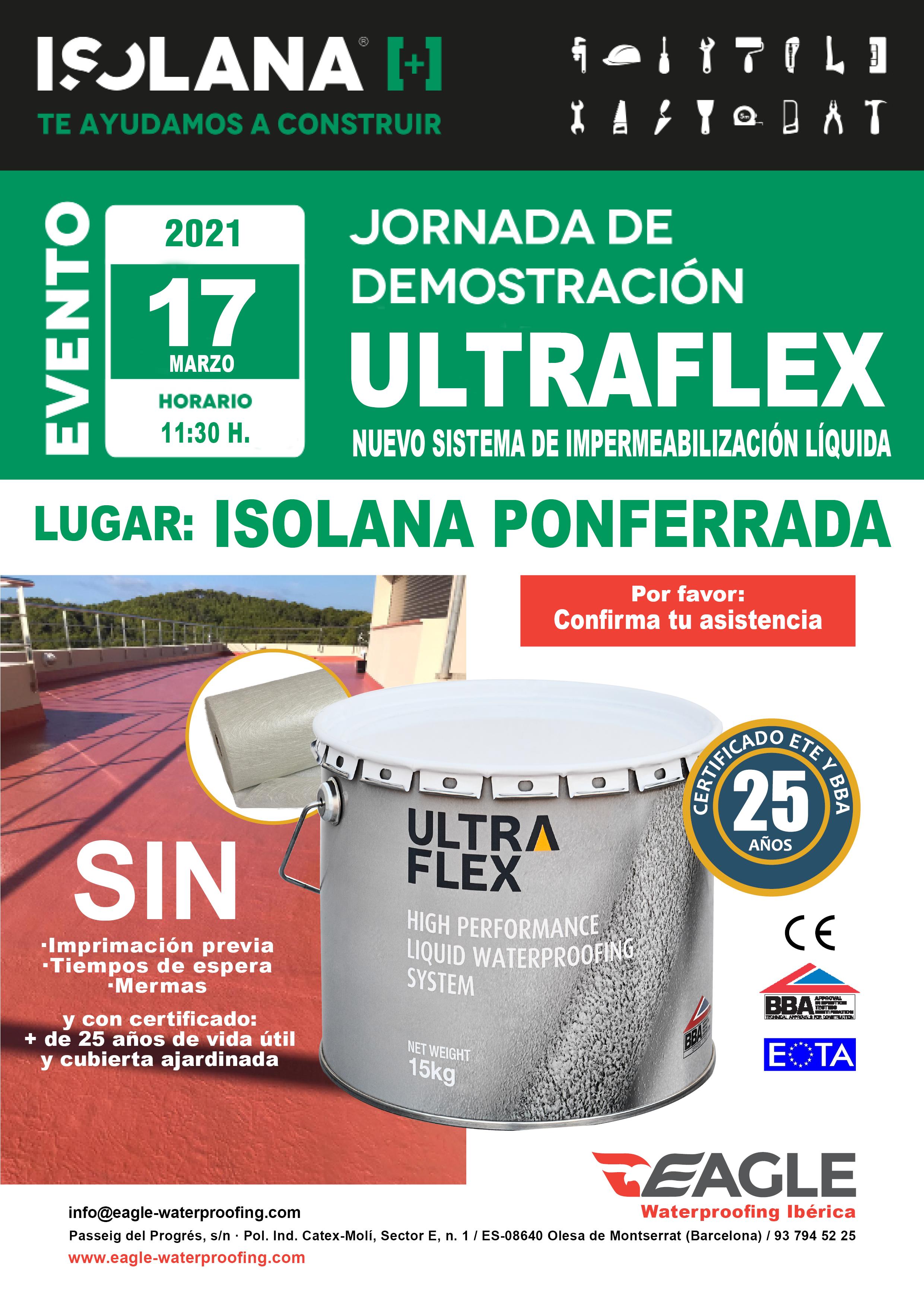 Jornada de demostración ULTRAFLEX en ISOLANA PONFERRADA