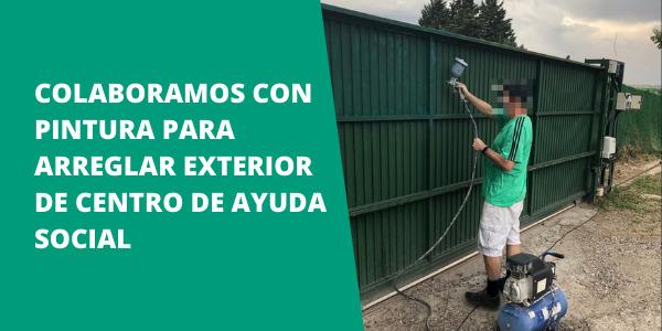 Colaboramos con pintura para arreglar exterior de centro de ayuda social
